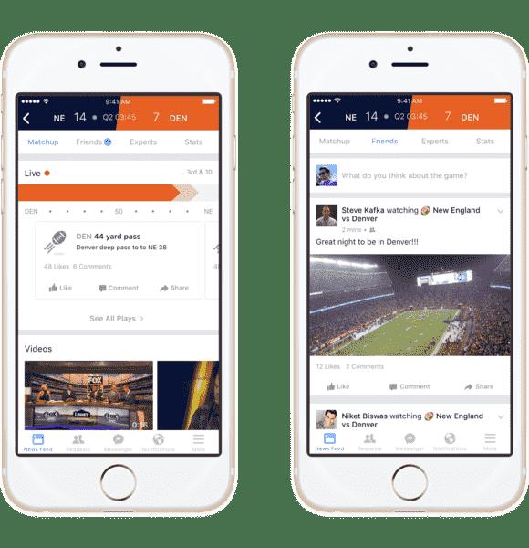 """Facebook建立了""""体育体育场""""以拉动足球迷"""