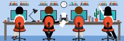 工作人员渴望积极的数字领导